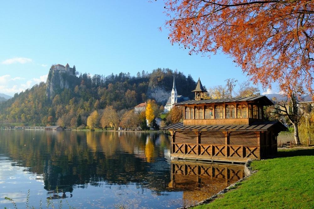 湖畔美景/旅遊/布列德/斯洛維尼亞