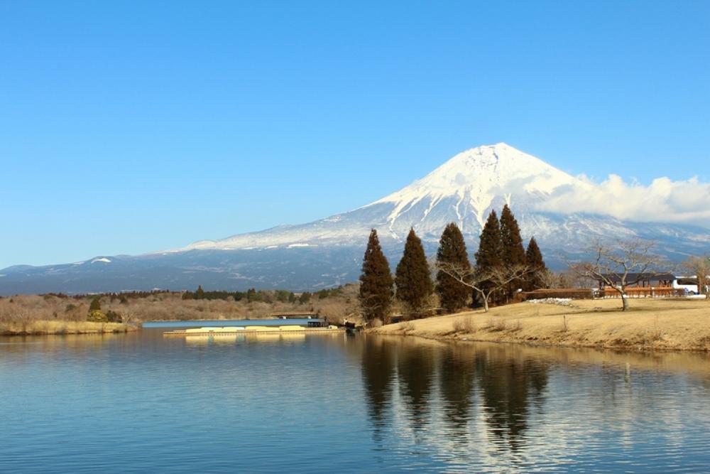 湖畔美景/旅遊/田貫湖/日本
