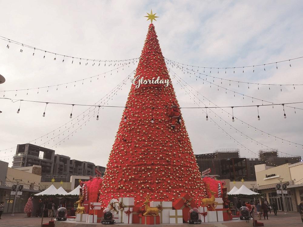 桃園出沒紅色耶誕樹